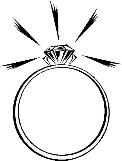 sparkling wedding ring diamond coloring page