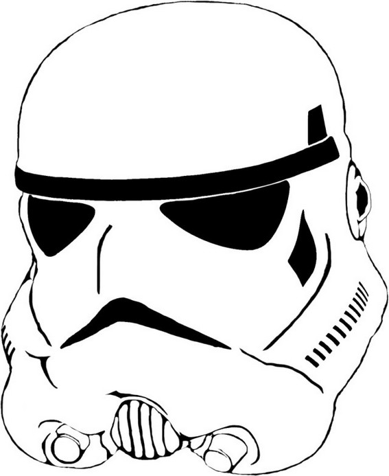 stormtrooper helmet coloring page for boys
