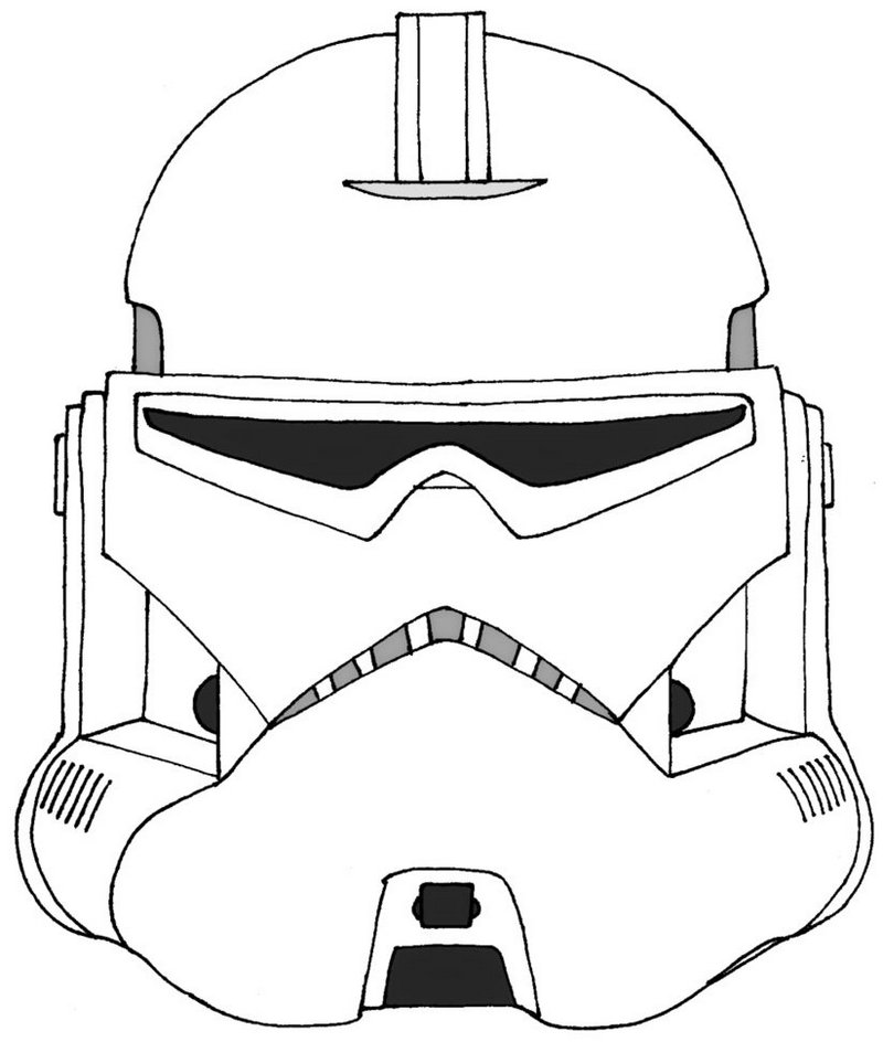 stormtrooper star wars helmet coloring page