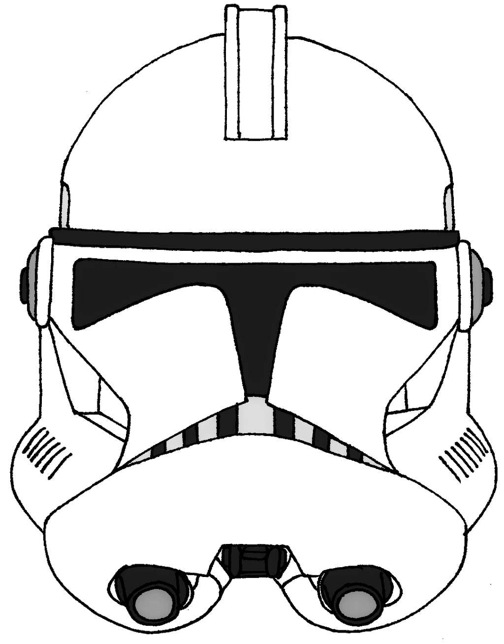Stunning Stormtrooper helmet coloring sheet