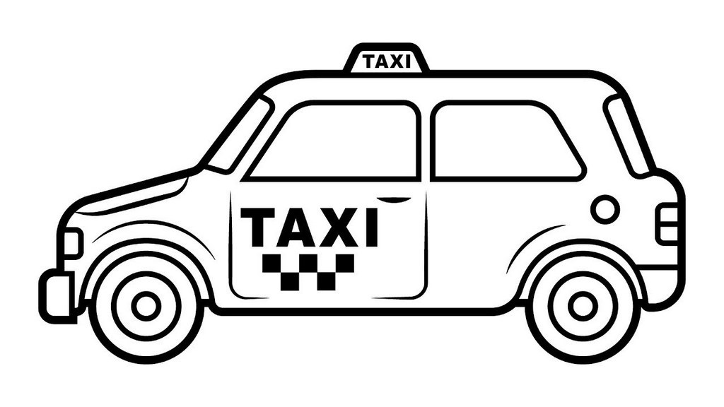 taxi vehicle coloring pictures