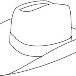 top cowboy hat coloring page