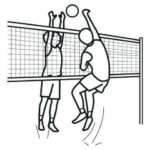 top volleyball coloring sheets for kids