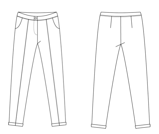 trendiest trouser woman fashion coloring and drawing sheet