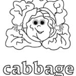 vegetable cabbage with face coloring food with face coloring sheet online