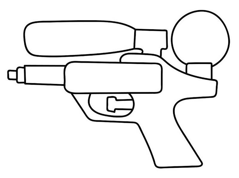 water gun coloring sheet for kids