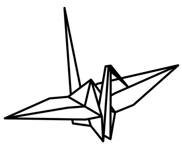 wonderful origami bird coloring sheet