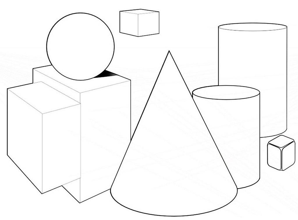 3D Shapes Coloring Pages for Students