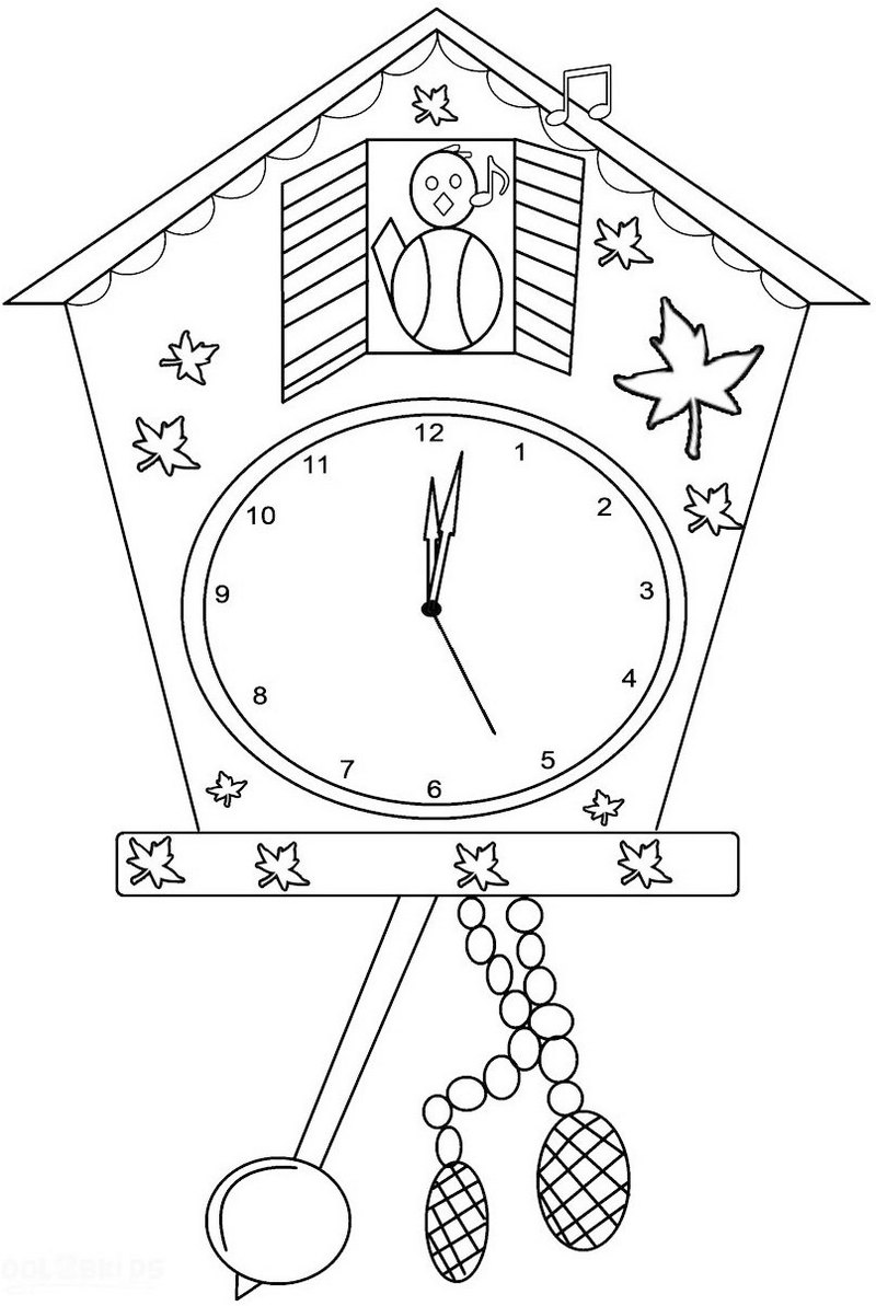 Best Alarm Clocks and Walk Clocks Coloring Page for Kids