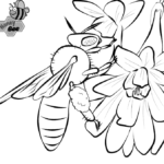 Best Honey Bee Coloring Page for Kids