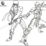 Best Mortal Kombat Battle Coloring Page