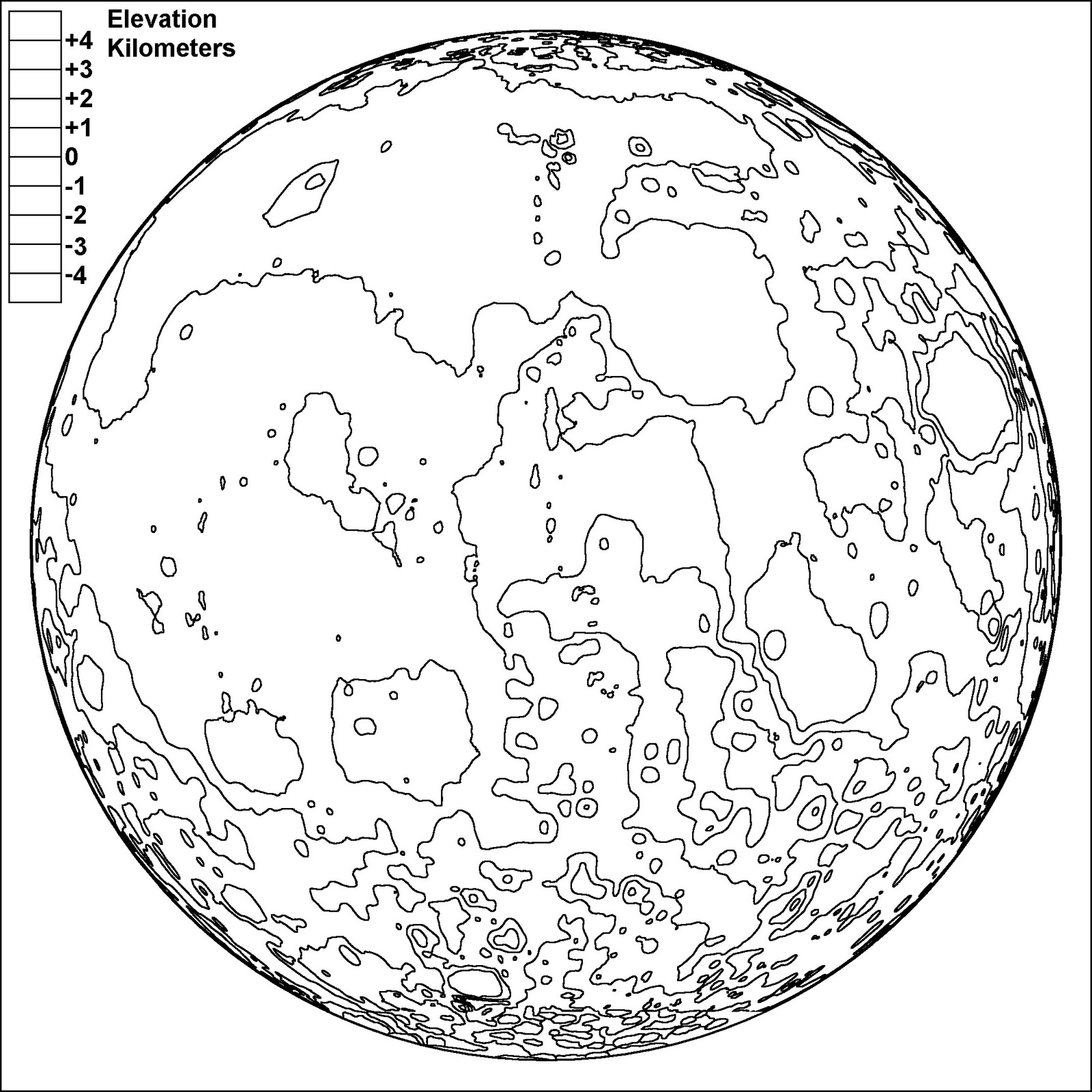 Best Realistic Moon Drawing Coloring Page