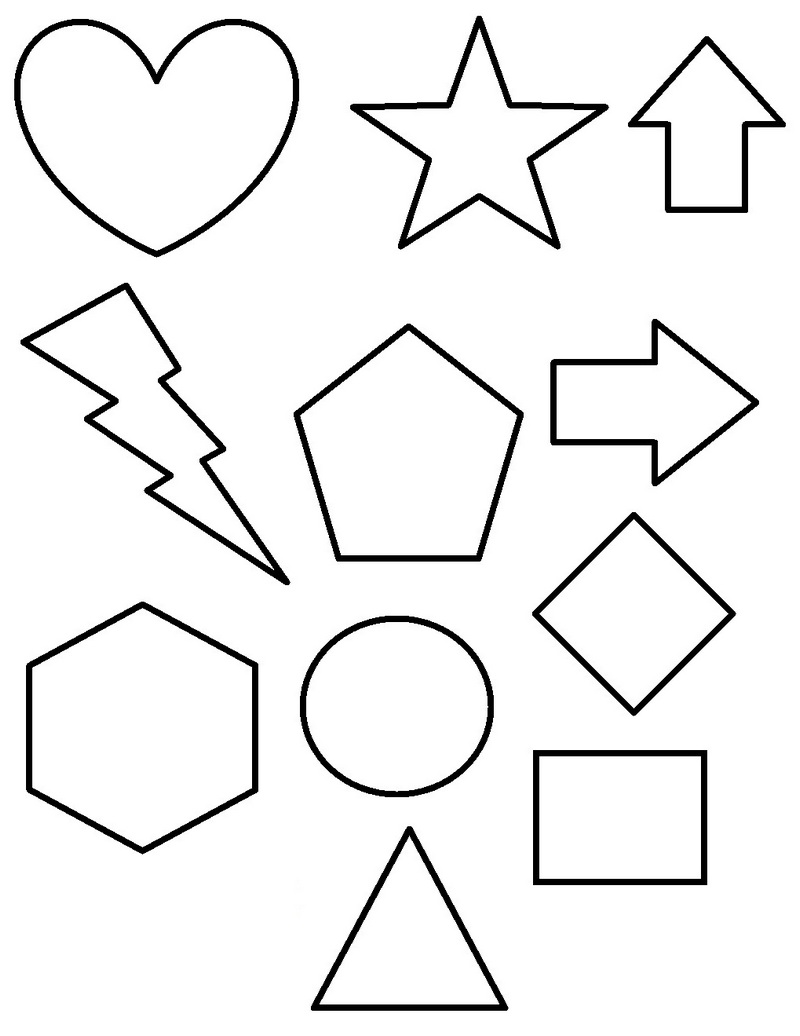 Best Shapes Education Coloring Page