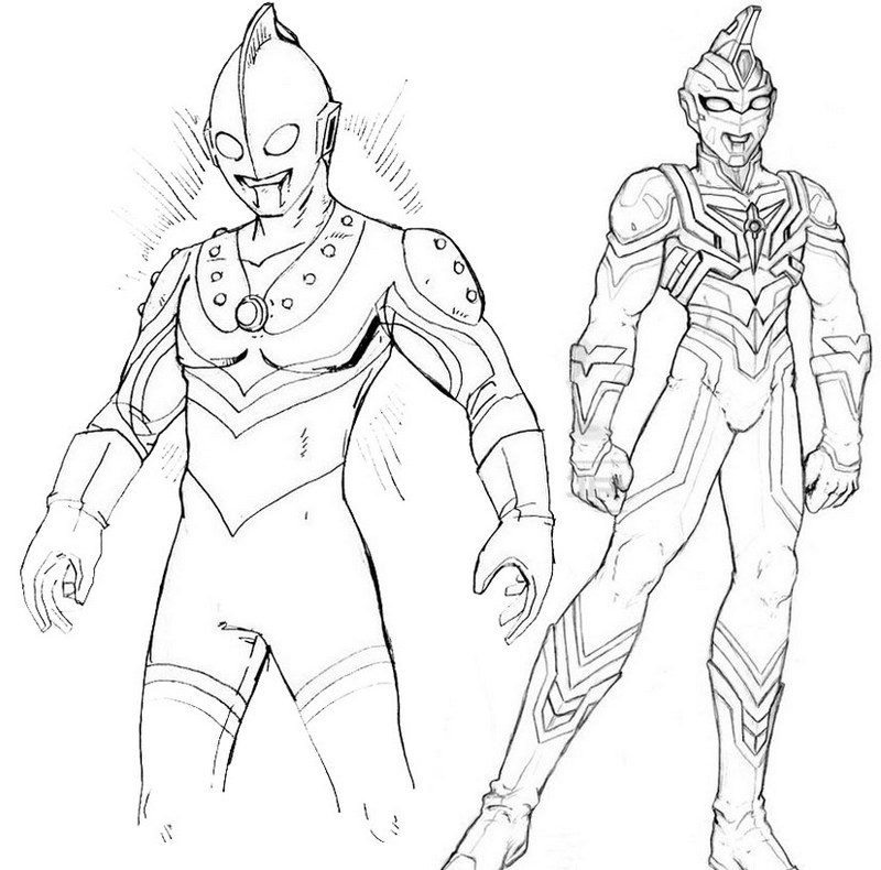 Best Ultraman Coloring Page for Kids