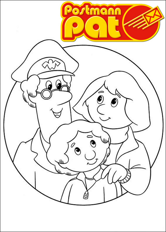 Best postman pat coloring page for family