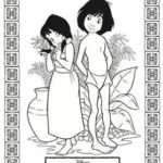 Best The Jungle Book Mowgli and Shanti coloring page