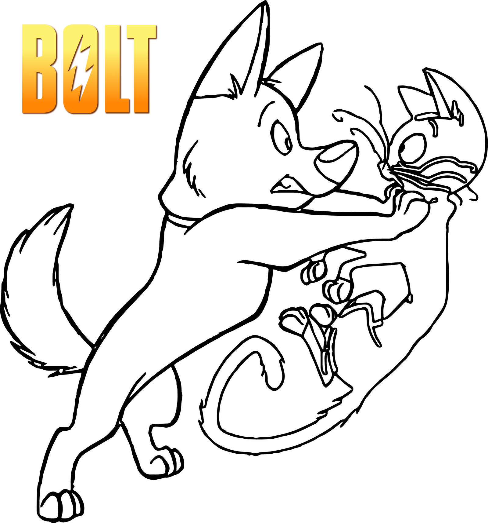 Bolt and Mittens Coloring Pages