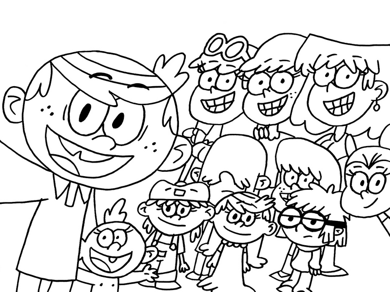 Cute Loud House Selfie Coloring Sheet