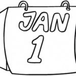 Daily Tear off wall calendar 1st January coloring sheet