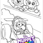 Disney Muppet Babies Racing Car Coloring Sheets