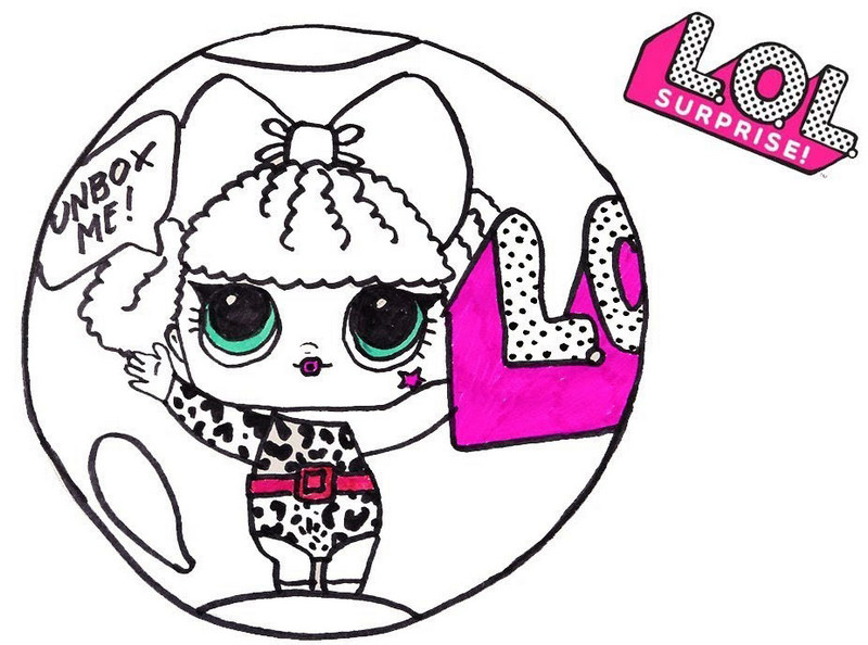 Diva LOL Surprise Coloring Sheet for girls