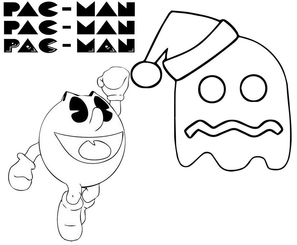Epic Pacman coloring and activity page