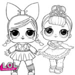 Fancy LOL Surprise Coloring Page for Girls