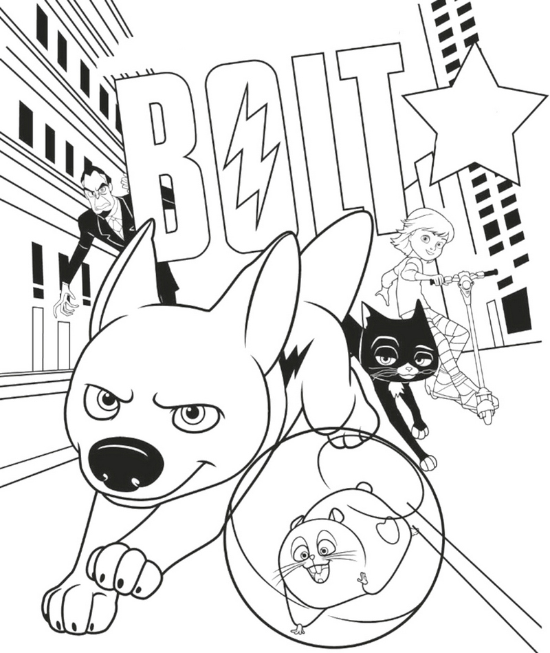 Fun Bolt Disney Coloring Page for Children