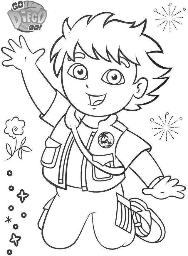 Fun Diego Coloring Pages Printable