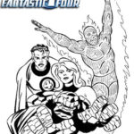 Fun Fantastic 4 Coloring Page for Marvel Comics Fans