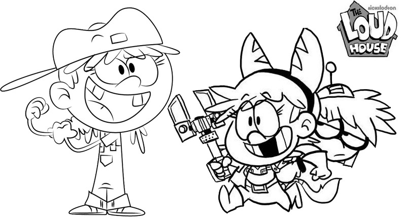 loud house coloring page for child