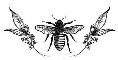 Honey Bee for logo coloring page