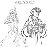 Kida and Milo James Atlantis Coloring Page