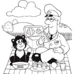 Pat Clifton and Jess from postman pat coloring pages