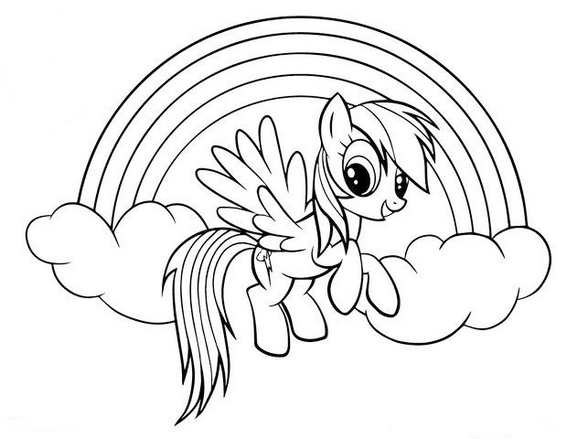 Pegasus pony Rainbow Dash Coloring Pages