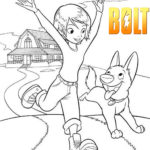 Penny and Bolt Coloring Pages for Kids
