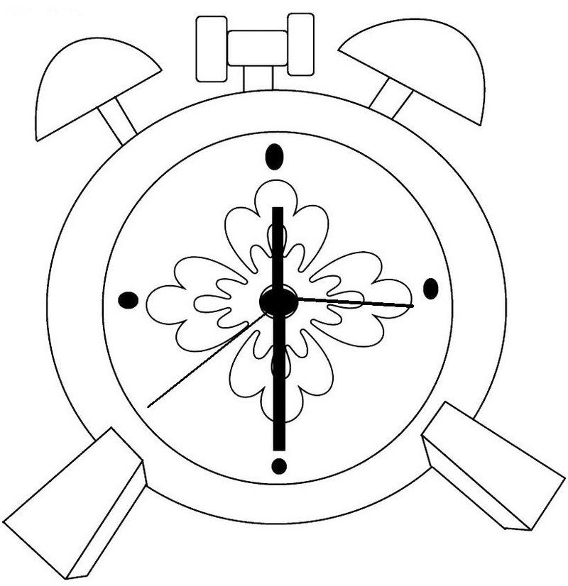 Perfect Clock Coloring Page for Little Angel