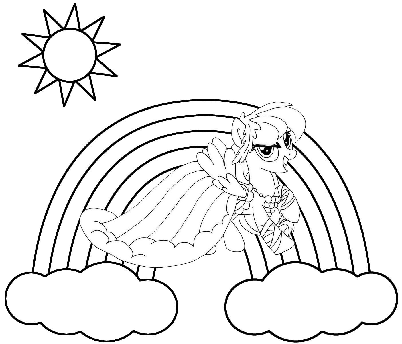 Rainbow Dash MLP Friendship Is Magic series Coloring Sheet