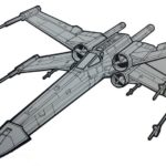 Revell X Wing Fighter Star Wars Coloring Picture