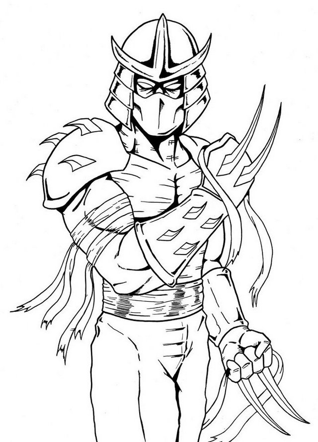 Shredder Teenage Mutant Ninja Turtles Coloring Page