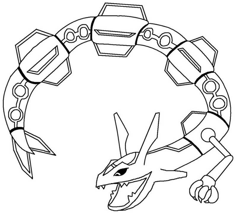 Super Armor Palkia Rayquaza Pokemon Coloring Pages