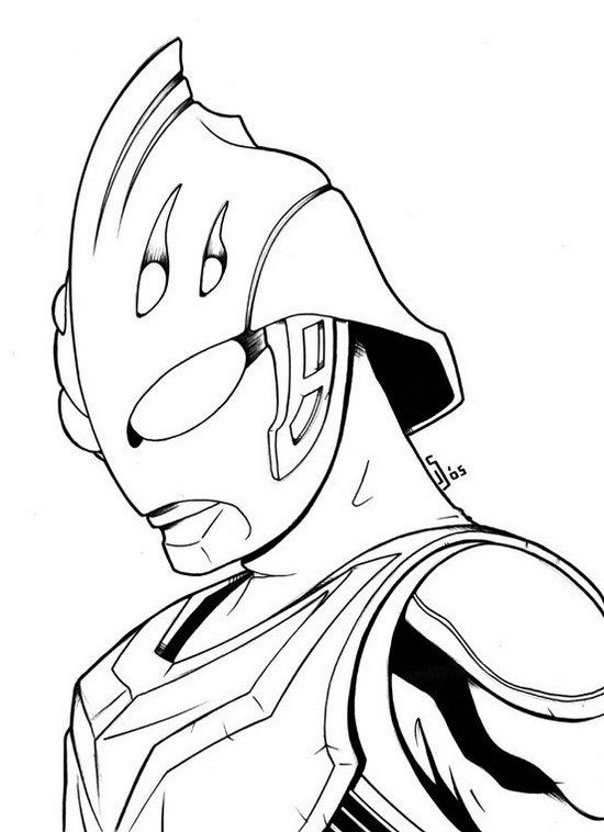 Superhero Ultraman Nexus Coloring Page for Boys