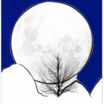 The Moon behind hill Coloring Page Design