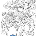 The Fantastic Fant4stic Superpowers coloring page
