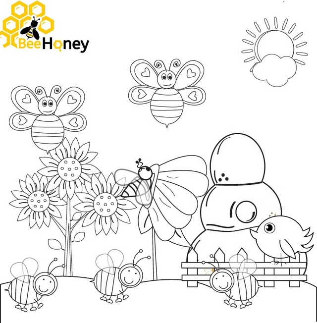 Top Honey Bee Coloring Sheet