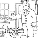 Top Postman Pat Office Coloring Page