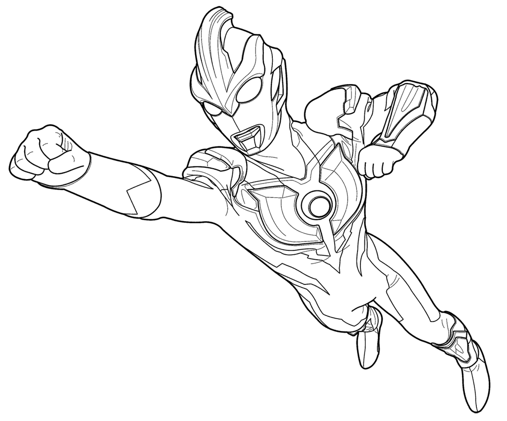 Outstanding Ultraman Coloring Book Model Framing Pages