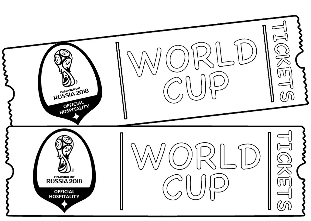 World Cup 2018 tickets coloring page