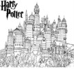 New Arrival Hogwarts Castle Coloring Pages for Harry Potter fans
