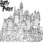 awesome harry potter hogwarts castle coloring sheet